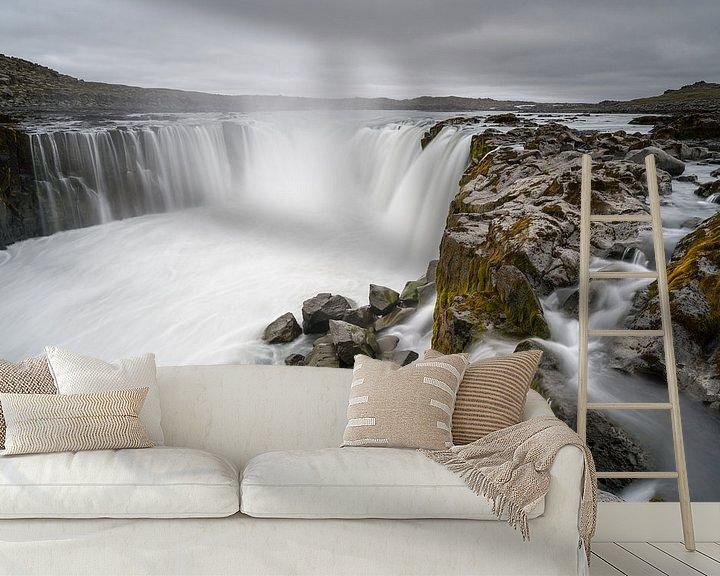 Sfeerimpressie behang: Selfoss, IJsland van Joep de Groot