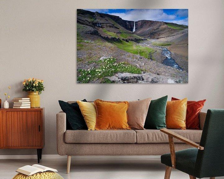 Sfeerimpressie: Hengifoss, IJsland van Joep de Groot