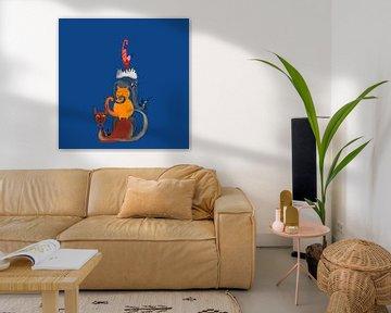 Schilderij van zes katten van Nicole Habets
