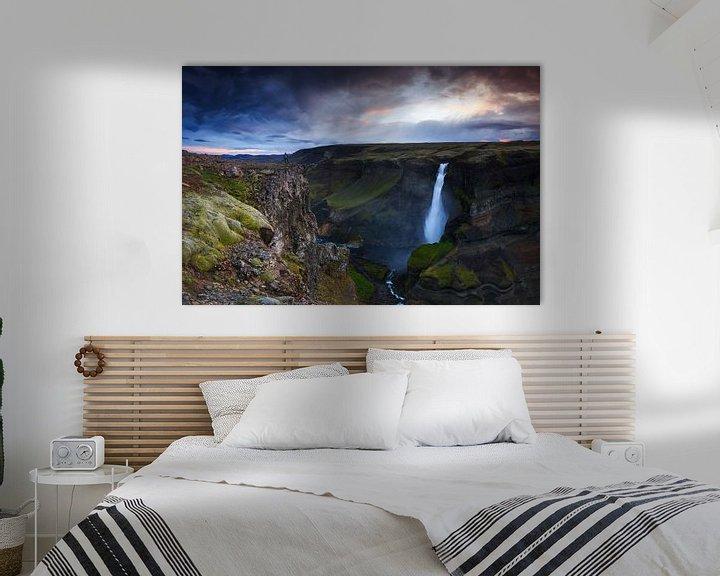 Sfeerimpressie: Haifoss, IJsland van Sven Broeckx