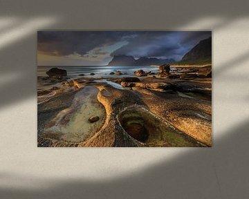 Strand van Uttakleiv, Lofoten von Sven Broeckx