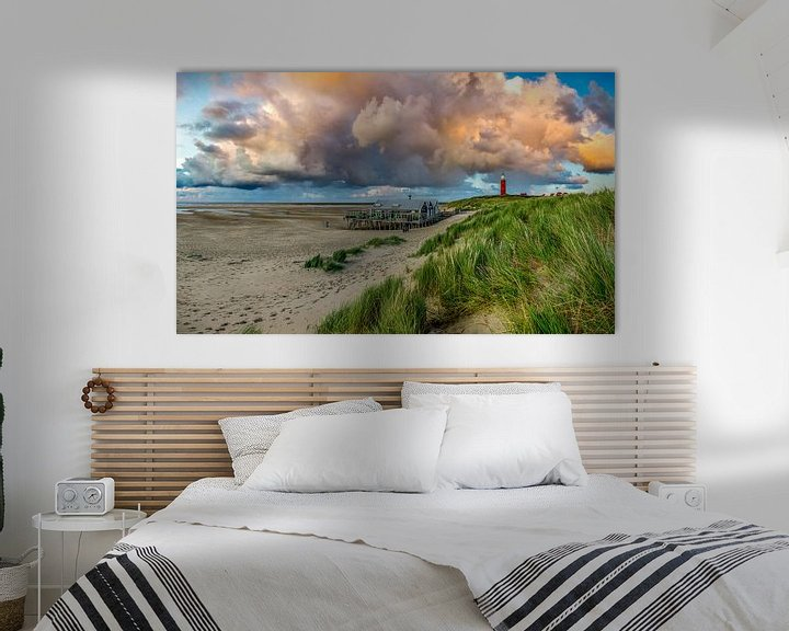 Sfeerimpressie: Vuurtoren Eierland Texel met prachtige wolken van Texel360Fotografie Richard Heerschap