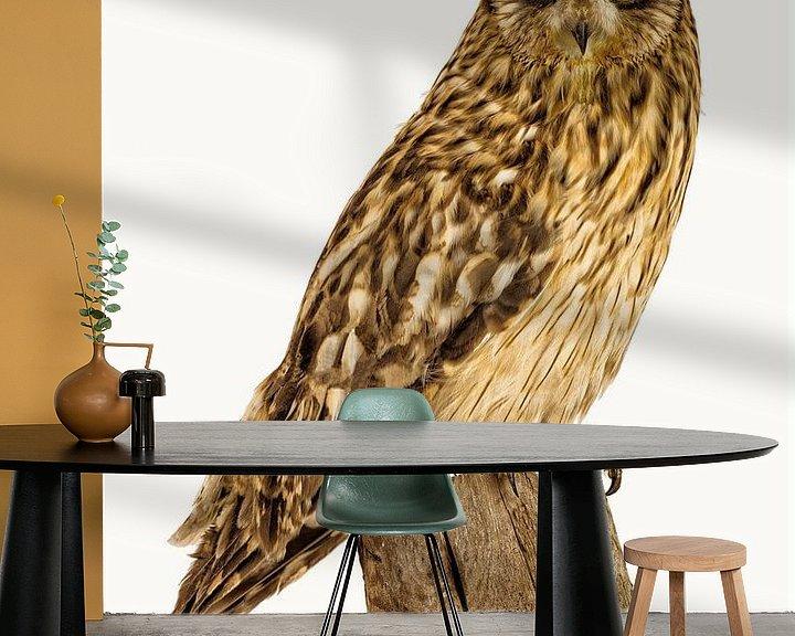 Sfeerimpressie behang: Rariteitenkabinet Vogel_01 van Marielle Leenders