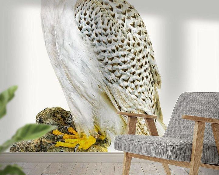 Sfeerimpressie behang: Rariteiten Cabinet Vogel_02 van Marielle Leenders