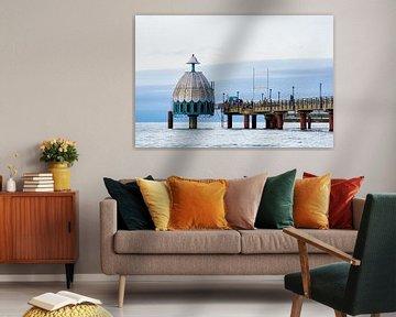Die Seebrücke am Strand von Zingst von Rico Ködder