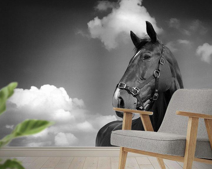 Sfeerimpressie behang: Klassiek paard van Mariska Hofman