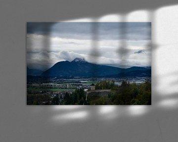 Salzburg Castle Alpen van Theo Meulendijk