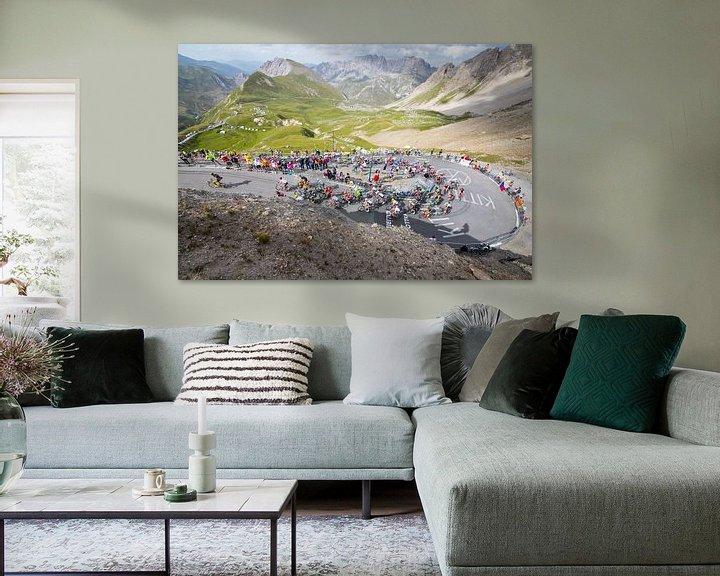 Sfeerimpressie: Tour de France - Col d'Izoard van Leon van Bon