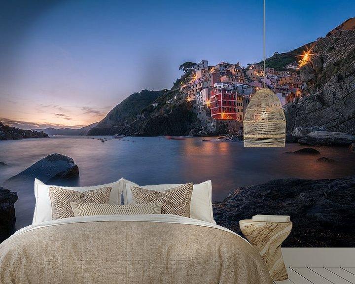 Impression: Sunset in Riomaggiore / Cinque Terre sur Edwin Mooijaart