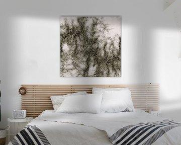 Grey Marble Pattern Black And Silver Vined von Gitta Gläser