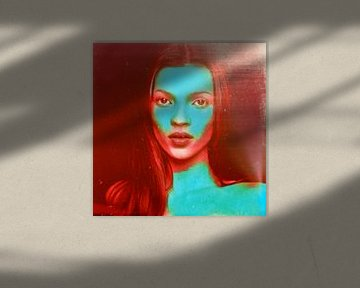 Motiv Kate Portrait Moss Bloody Red - 8 Colours Game von Felix von Altersheim