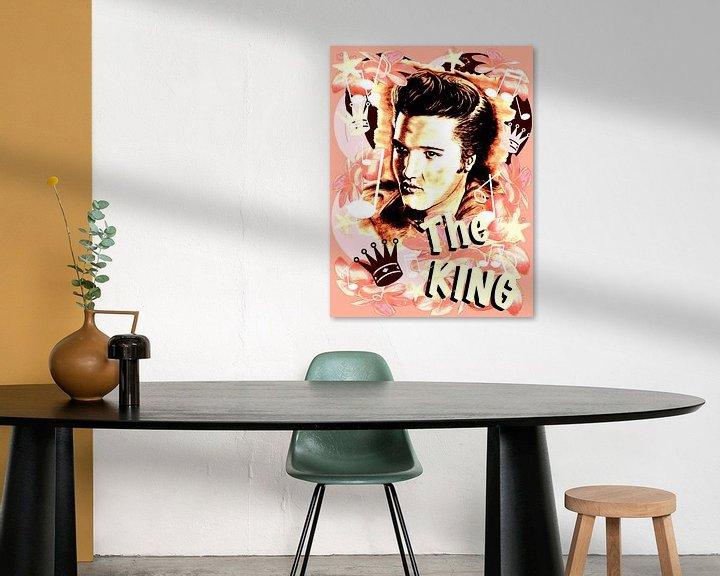 Beispiel: Elvis The King In Salmon-Rosé von Gitta Gläser