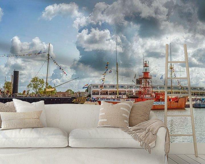 Impression: Drie boten op een rij sur John van Weenen