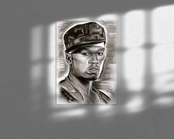 50 Cent In Black And White von Gitta Gläser