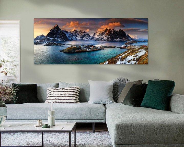 Beispiel: Lofoten Norwegen Panorama - Reine (Moskenes) von Sven Broeckx