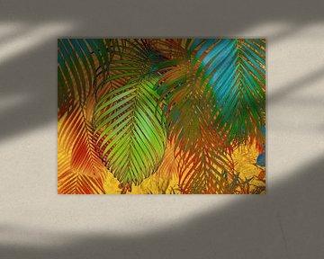 TROPICAL LEAVES POP-ART von Pia Schneider