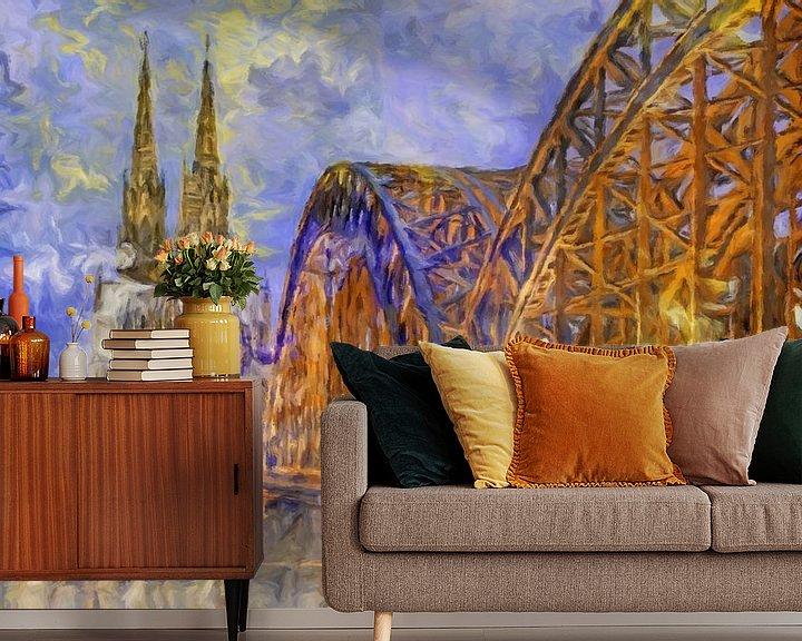 Beispiel fototapete: Kölner Dom abstrakt von Marion Tenbergen