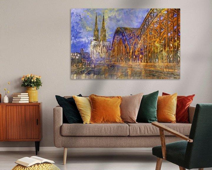 Beispiel: Kölner Dom abstrakt von Marion Tenbergen