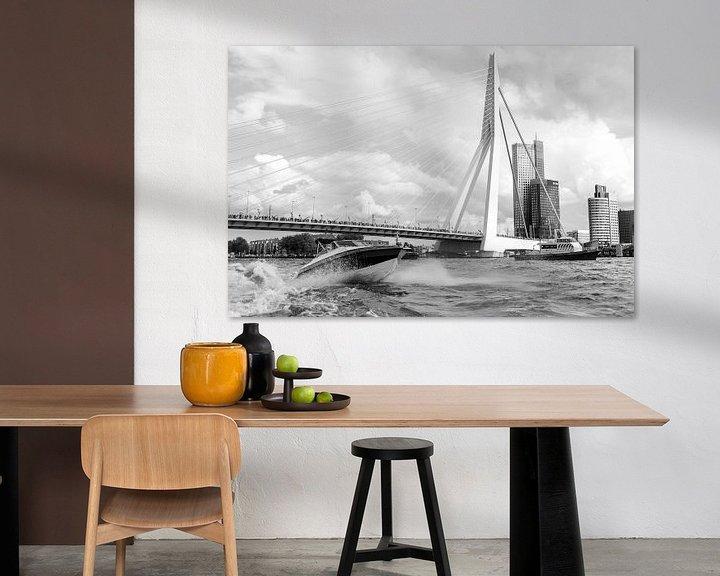 Sfeerimpressie: Rotterdam, Haven,  Deloitte kantoor, Erasmusbrug van Henriëtte Hoffs