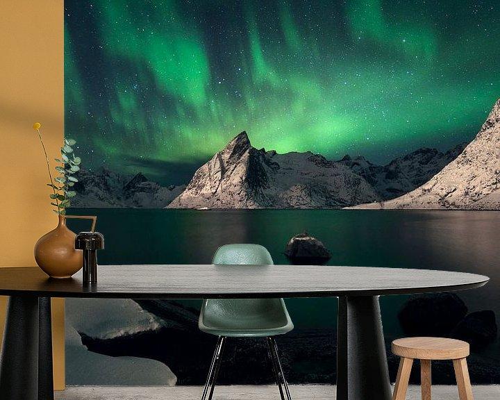Sfeerimpressie behang: Winter wonderland van Sven Broeckx