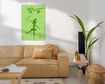 Blumenmädchen Silhouette von Marion Tenbergen