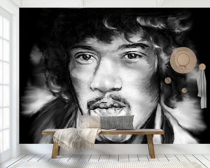 Beispiel fototapete: Jimi In Black And White von Gitta Gläser