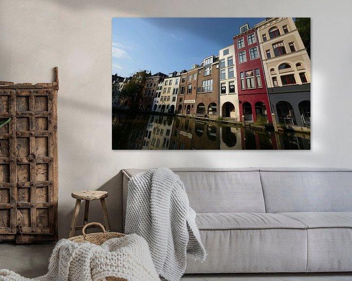 Sfeerimpressie: Oudegracht ter hoogte van Lijnmarkt van In Utrecht