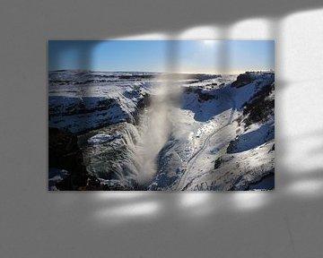 Waterval in Ijsland van Merik Westerveld