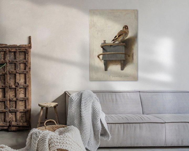 Sfeerimpressie: 'Het puttertje', Carel Fabritius