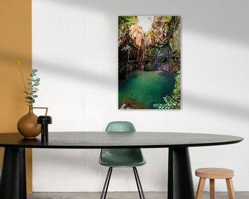 Canyon rivier Isalo van Dennis van de Water