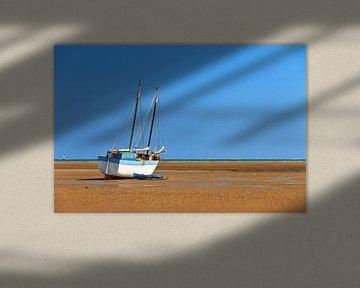 Zeilboot op het strand in Morondava von Dennis van de Water