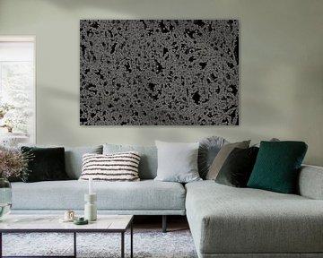 Dark Frozen Dots Abstract van Gitta Gläser