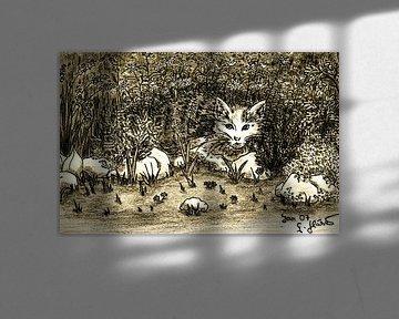 Hiding Cat In Garden von Gitta Gläser