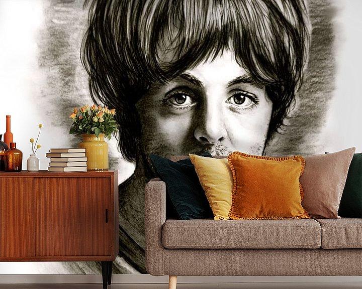 Beispiel fototapete: Paul McCartney In Black And White von Gitta Gläser
