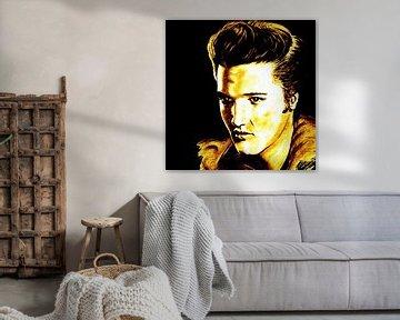 Elvis In Gold And Black von Gitta Gläser