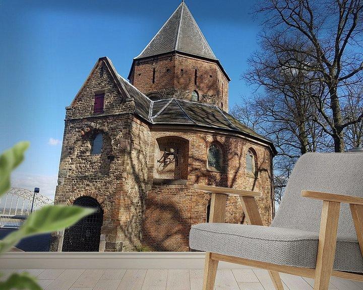 Sfeerimpressie behang: ST. Nicolaas kapel in Nijmegen van Jeroen Schuijffel