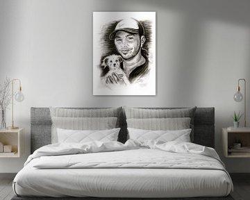 Matt Hardy In Black And White von Gitta Gläser