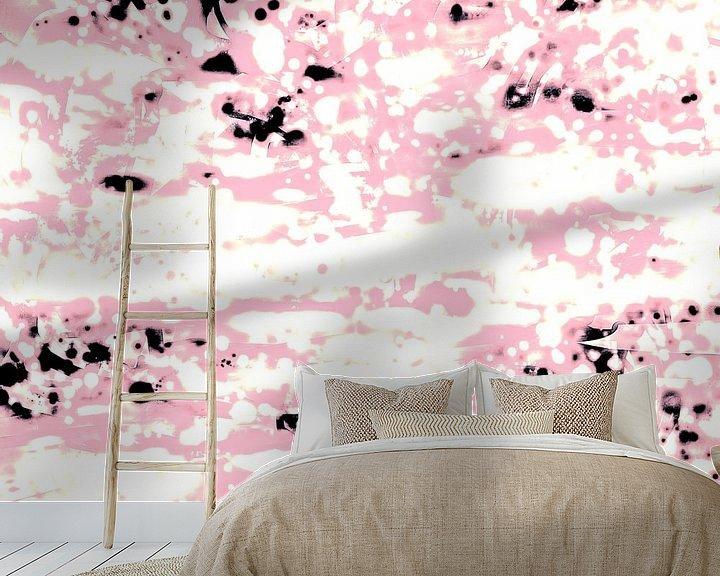 Beispiel fototapete: Abstract Lava Pattern In Light Pink And White von Gitta Gläser