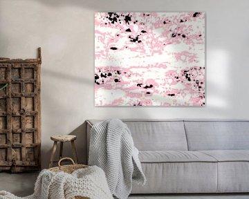 Abstract Lava Pattern In Light Pink And White von Gitta Gläser