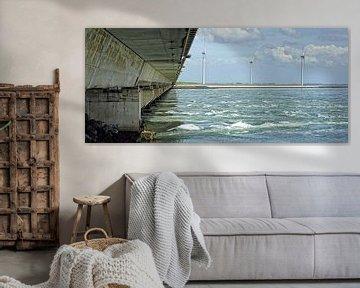 Oosterscheldekering - Neeltje Jans - Zeeland van foto zandwerk