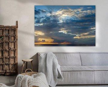 Zonsondergang - Texel - De Koog van foto zandwerk