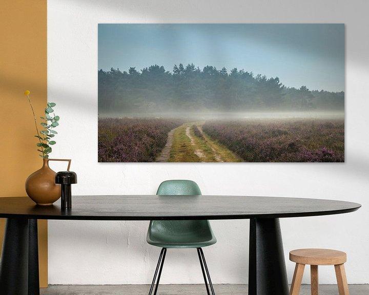 Beispiel: Karawane Heide-Schafe im Nebel von Gerrit Veldman