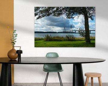 Landscape with bridge in Denmark. van Rico Ködder