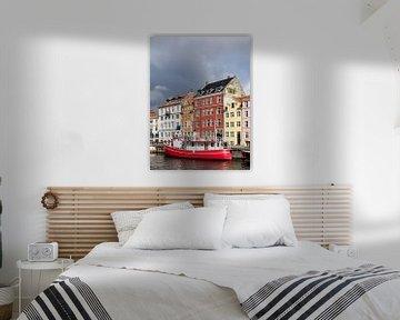 Nyhavn in der Stadt Kopenhagen, Dänemark von Rico Ködder