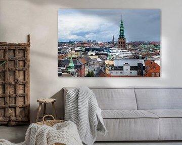 Blick über die Stadt Kopenhagen, Dänemark von Rico Ködder