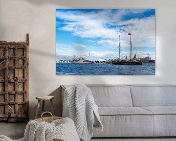 Segelschiffe in der Stadt Kopenhagen, Dänemark von Rico Ködder