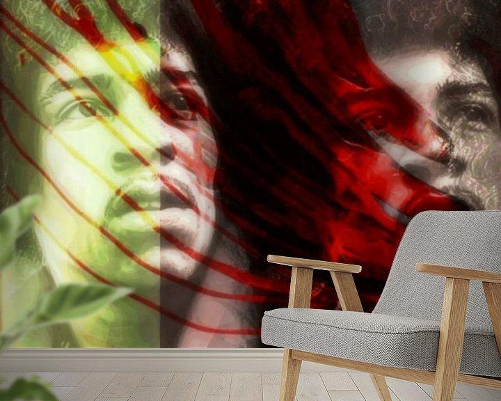 Beispiel fototapete: Jimi Hendrix Modern Art 02  von Felix von Altersheim