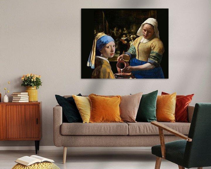 Beispiel: Das Mädchen mit dem Perlenohrgehänge - das Milchmädche - Johannes Vermeer von Lia Morcus