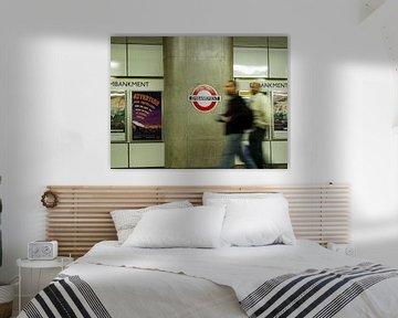 Embankment - London Tube Station von Ruth Klapproth