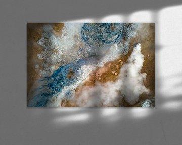 Luchtfoto / Dronefoto van een geothermisch veld in IJsland von Martijn Smeets